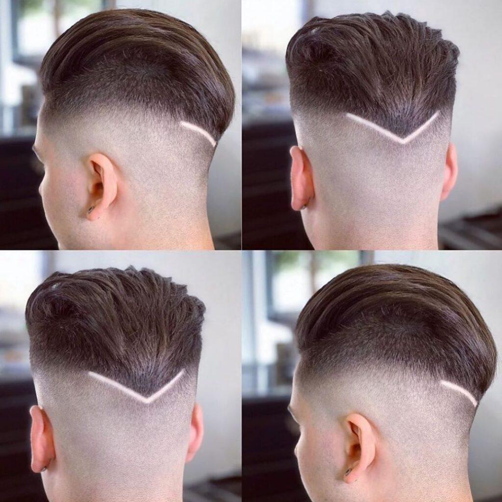 "Pompadour + ""V"" Hairline"