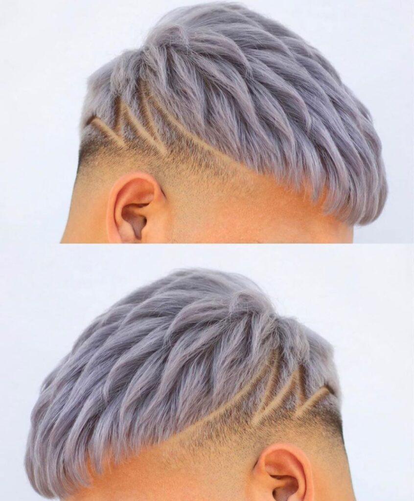 "Soft Crop + Short Textrued + ""Lightning"" hairline"