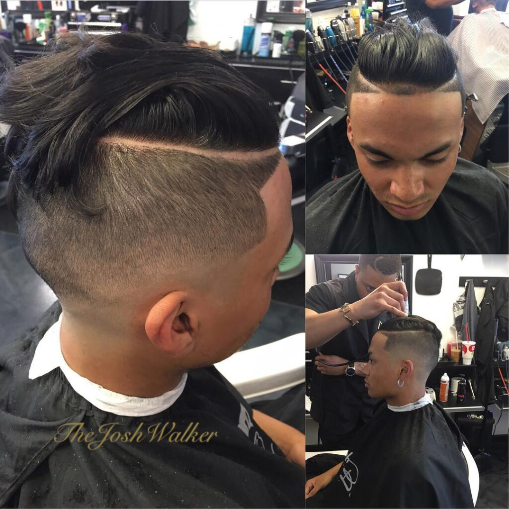 Disconnected Undercut  With Comb Ove