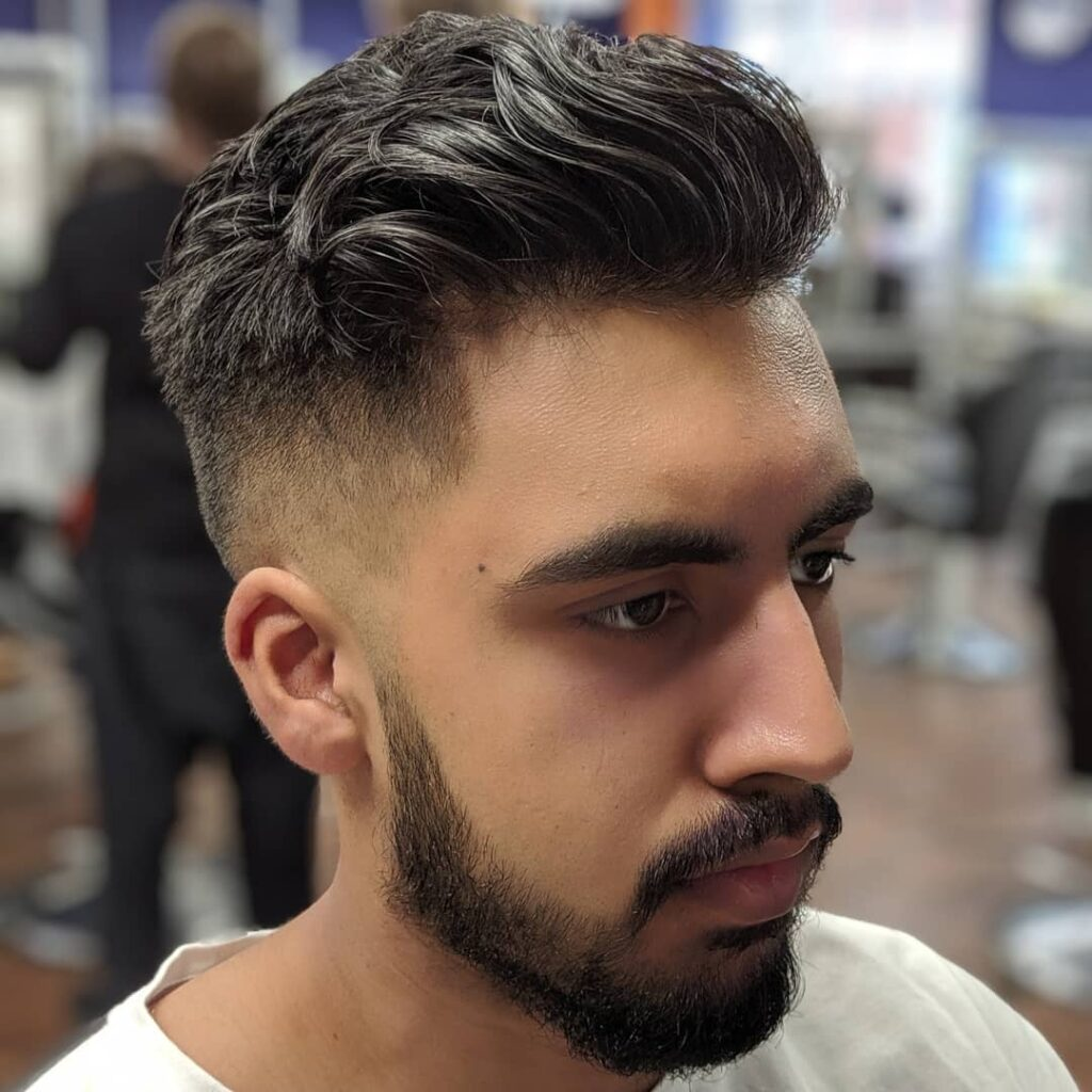 Low Fade + Razor Shaped Up + Lined Up The Beard