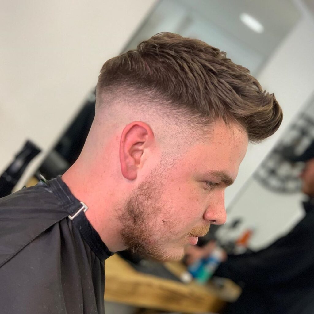 Baled Fade + Texture On Top haircuts for men
