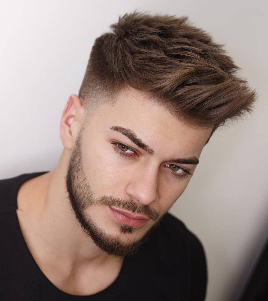 Quiff + Taper Fade Haircuts For Men